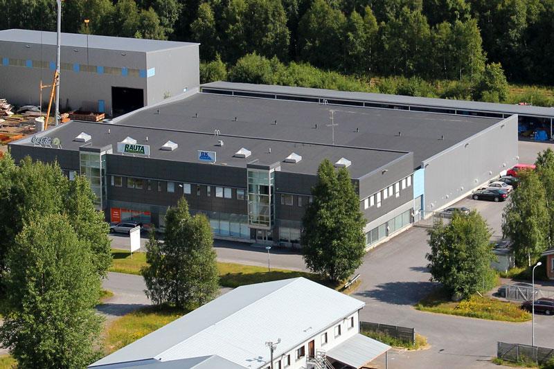 Ilmakuva Oulun Veistämötie 8 | EAB Vuokrattavat toimitilat